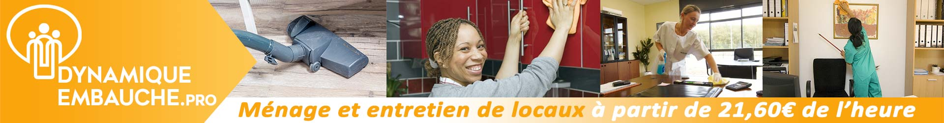 Ménage et entretien de locaux à partir de 20,20€ de l'heure !